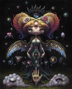 Yoko D'Holbachie: The Alchemist Last Rites is excited to present our next solo exhibition by artist Yoko D'Holbachie. Opening reception will be held on July at (Last Rites Tattoo Theatre) Creepy Art, Weird Art, Bizarre Art, Dark Fantasy Art, Dark Art, Totoro, Basketball Art, Alien Art, Goth Art