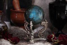 Sphère de Labradorite de 70mm, boule de cristal, Divination, énergie, Protection, méditation, Scrying, Reiki, autel Wiccan, païen, sorcellerie, sorcière