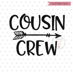 Cousin Crew SVG Cousin Svg Dxf and Png Instant Download | Etsy