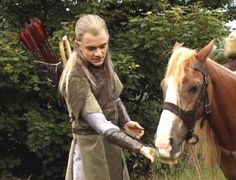Orlando Bloom and Bill the pony
