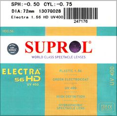 Most Popular Lens (Value): Suprol Electra, Indian Optics Pvt Ltd