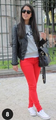Look with white converse