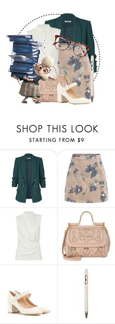 """Zootopia // Bellwether"" by annieisawallflower ❤ liked on Polyvore featuring Carven, Dolce&Gabbana, Gianvito Rossi, Seltzer, Victoria Beckham and vintage"