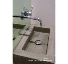 Lavabo - Fontein beton grijs ZONDER KRAANGAT 52x31.5x15 cm RECHTHOEK