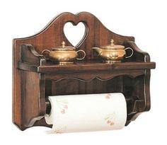 Portascottex dolce casa in legno massello colore noce arte povera