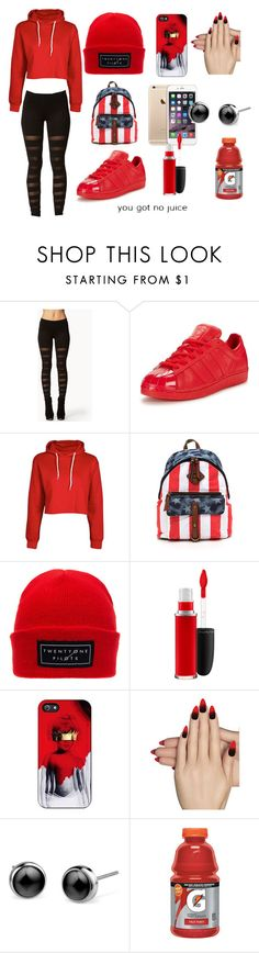 """""""Juice."""" by clippedkino on Polyvore featuring Forever 21, adidas Originals, MAC Cosmetics and Static Nails"""