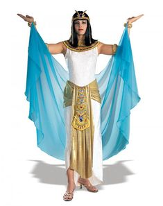 Cleopatra in stock from Mr Bens Costume Closet Costume Halloween, Halloween Fancy Dress, Cleopatra Costume, Egyptian Costume, Pantomime, Addams Family Costumes, Halloween Disfraces, Purple Sweater, Costume Dress