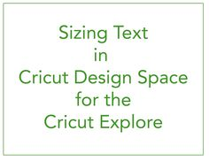 Sizing Text in Cricut Design Space