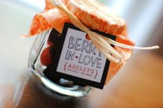 berry's in a mason jar :) perfect fall wedding favors