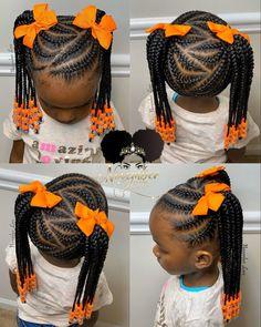 Black Kids Braids Hairstyles, Toddler Braided Hairstyles, Toddler Braids, Baby Girl Hairstyles, Natural Hairstyles, Halloween Hairstyles, Hairstyle Short, School Hairstyles, Prom Hairstyles
