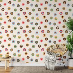 Stickers Peel & Stick Wallpaper - Canvas Wall Decal / 1 roll: 24W x 120H