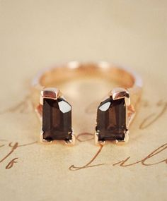 Shield Ring Smokey Quartz