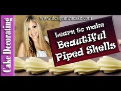 This video tutorial explains how to pipe shells with a very detailed explanation by Edna De la Cruz from Design Me a Cake. Learn to Pipe Shells with this ste. Cake Decorating Piping, Cake Decorating Tutorials, Decorating Cakes, Banana Recipes, Icing Recipes, Cake Borders, Piping Techniques, Cupcake Cookies, Cupcakes
