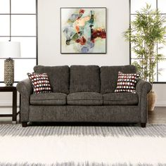 Reverb Queen Sleeper In Charcoal Polypropylene | Jeromeu0027s Furniture Queen  Size Sofa Bed, Pull Out