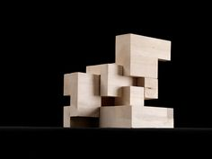 Perspective of cube model in open position. Cubic Architecture, Architecture Student, Architecture Design, Architecture Models, Co Housing, Architecture Concept Drawings, Mall Design, Arch Model, Environmental Design