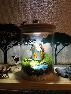 Месяц свет лес mosslight Izumi лес Little House террариума внутреннего времени свет отправки, пожалуйста, проверьте. | Цветочный аренда | NATURE BOY | ручной заказ почты и продаж Creema