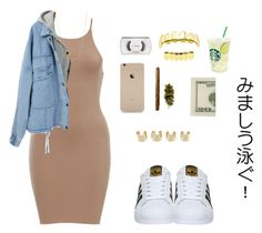 """""""do I look like scarface?"""" by versaceshawty ❤ liked on Polyvore featuring adidas, Maison Margiela, ASOS and MAC Cosmetics"""
