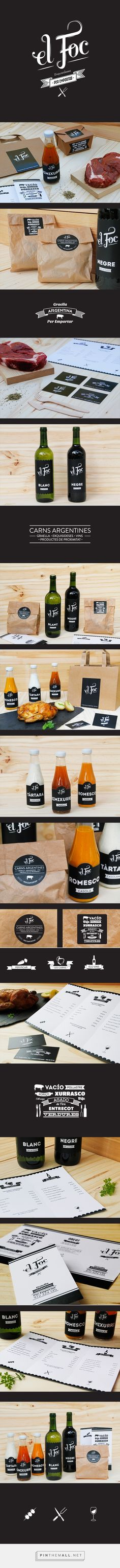 El Foc identity packaging branding on Behance by Le Maritime Studio curated by Packaging Diva PD. Anybody hungry yet?