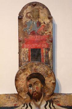 Margaritone d'Arezzo - Cristo trionfante, dettaglio - 1255 circa - Monte dei Paschi Art Collection, Siena