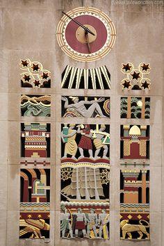 Rockefeller Center art deco relief