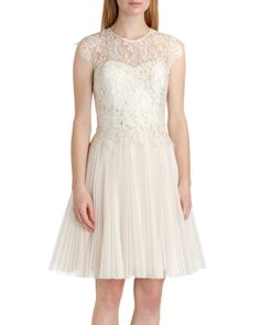 Lace bodice dress - Cream | White Out | Ted Baker UK