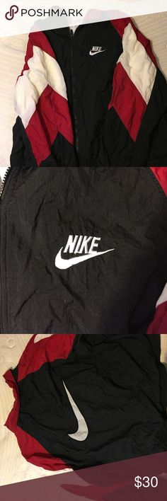 Shop Women s Nike Black Red size M Jackets   Coats at a discounted price at  Poshmark. 62d5a6496