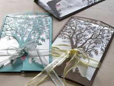Love Tree Laser Cut And Handmade Wedding Invitations In Premium Card Stock