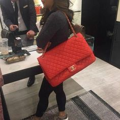 16958c050d0356 Chanel Red Travel Bag #Chanelhandbags - Chanel Red - Ideas of Chanel Red  #chanel