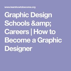Graphic Design Schools Careers