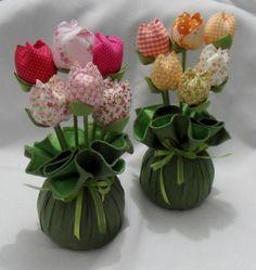 passo a passo porta chave com vasinho de flor - Pesquisa Google