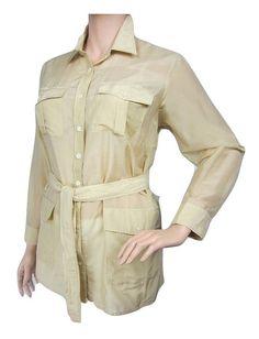 32cd93e6 Lauren Ralph Lauren Womens Plus Silk Belted Tunic Top Tan 2X at Amazon  Women's Clothing store: Safari ShirtPlus SizeTunic TopsRalph LaurenButton  Down ...
