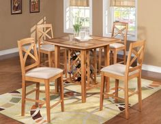 Charming Oak Dining Room Table of Contemporary Look : Fascinating Oak Dining Room Table Design Wine Storage Under Table