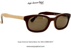 Anglo American Optical Byker Sun 48mm BRBE MATT 21st, Sunglasses, American, Style, Swag, Sunnies, Shades, Outfits, Eyeglasses