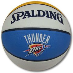 Spalding Oklahoma City Thunder Full Size Rubber Basketball by Spalding. $19.94. Everyone at your pick-up game will know who you are rooting for with the Spalding® full-size rubber basketball. This official-size ball features NBA team colors and graphics. It is perfect for showing team pride on the hardwood or blacktop.