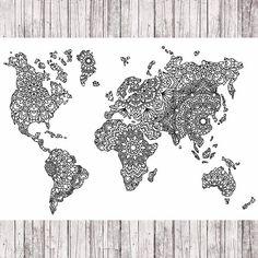 Mapa del mundo del mandala