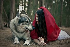 Ok, I'll be little red riding hood and you can be the wolf. No you don't have to try to eat me, Lolli!