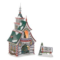 Department 56 North Pole Village Rudolphs S and G Tree Toppers Lit House 866Inch ** You can find out more details at the link of the image.