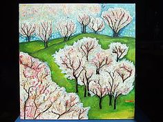 Obrazy - Jabloňový sad, 50x50 - 6746174_