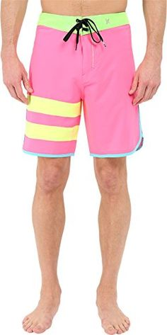 3838c458c4 Acquaa Mens Elastic Waist Relaxed Beach Shorts Swim Trunks Orange L * You  can find more details by visiting the image link. Men's Style Fashion