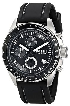 movado museum leathermens watch 0606502 amazon co uk watches buy now fossil men s ch2573 decker stainless steel chronograph watch black silicon band the