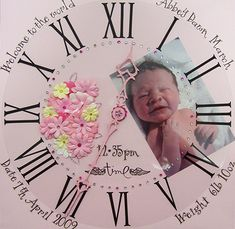 Scrapbook idea for new baby. Love this!