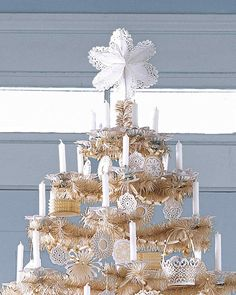 This doily tree-topper conjures images of folktales and snow-dusted forests.