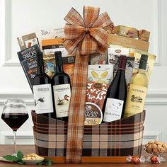 Wine Gift Baskets - Duckhorn Wine Gift Basket Wine Country Gift Baskets, Gourmet Gift Baskets, Wine Baskets, Christmas Gift Baskets, Dark Chocolate Almonds, Kendall Jackson, Valentines Day Wine, Wine Online
