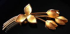 Bond Boyd Gold Sterling Floral Bouquet Brooch
