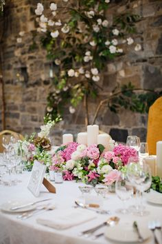 Indulge in today's romantic pastel real wedding at Ballymagarvey Village with pretty DIY décor and a drool-worthy dessert table. Wedding Table, Wedding Ceremony, Bridal Photoshoot, Wedding Decorations, Table Decorations, Dessert Table, Banquet, Getting Married, Real Weddings