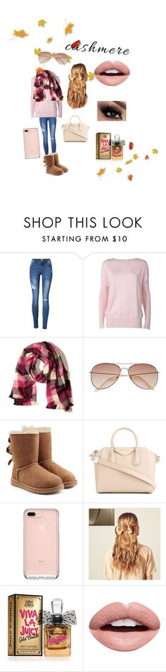 """""""A great year for cashmere!!"""" by ekkiwitz ❤ liked on Polyvore featuring Snobby Sheep, Hollister Co., H&M, UGG, Givenchy, Hershesons, Juicy Couture, Nevermind, Fall and fashionset"""