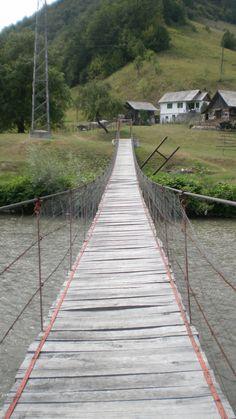 traditional bridge in Maramures (Romania)