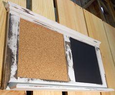 Distressed Corkboard/chalkboard