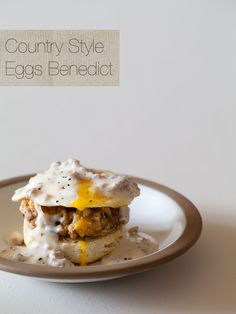 Country Style Eggs Benedict with country fried steak