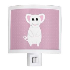 Cute Little Mouse Drawing with Polka Dots Night Light - animal gift ideas animals and pets diy customize
